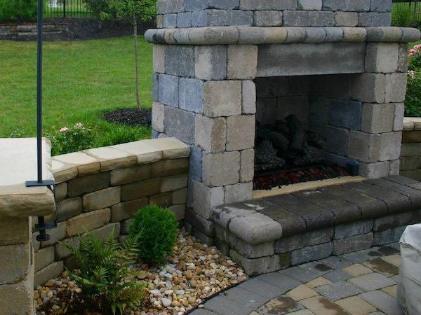 custom paver stone design patio ky